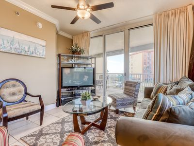 Photo for Gulf front, coastal condo w/ shared pool, hot tub, and easy beach access