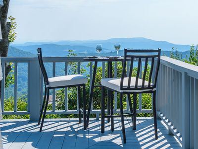 Photo for Mountain Chic Cottage with Panoramic Views, Hot Tub, Pool Table, on top of App Ski Mtn
