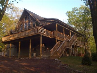 Photo for Wooded Chalet- Huge 6 BR 'Chipmunk Lodge' W/ Hot Tub & Pool Table