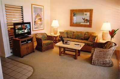 Living Room With High Definition TV and Wi Fi