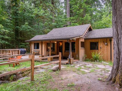 Photo for New Listing-Cozy Remodeled Cabin on the ZigZag River- WiFi-walk to Village
