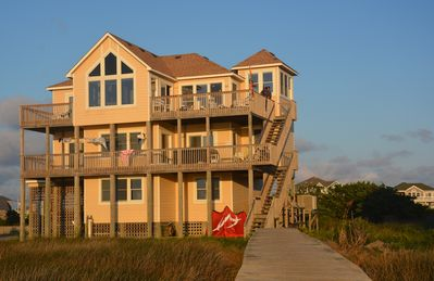 Photo for EAST WIND is gorgeous sound front home offering  beach front access on the sound