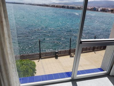Photo for Apartment BrisaMarCanarias 1st line Sea wifi / Sat Solarium 3 room 2baño Vistas