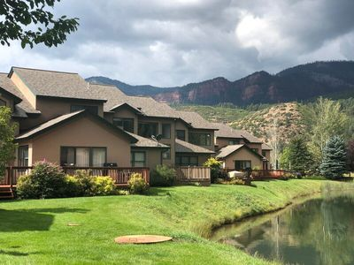 Photo for Panoramic Mountain Views, Stream in the back, on the Golf Course!
