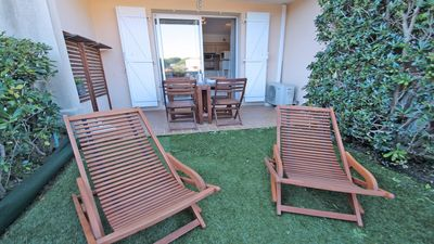 Photo for Apartment T2 - 4 people - Swimming pool residence - WiFi - Air conditioning - Sainte-Maxime