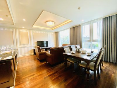 Photo for 3 Bedrooms Luxury Apartment, Skyline Pool,1 km from Ben Thanh Market