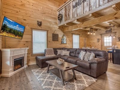 Photo for BRAND NEW Smoky Mountain Cabin Rental with Foosball, Pool Table and Hot Tub