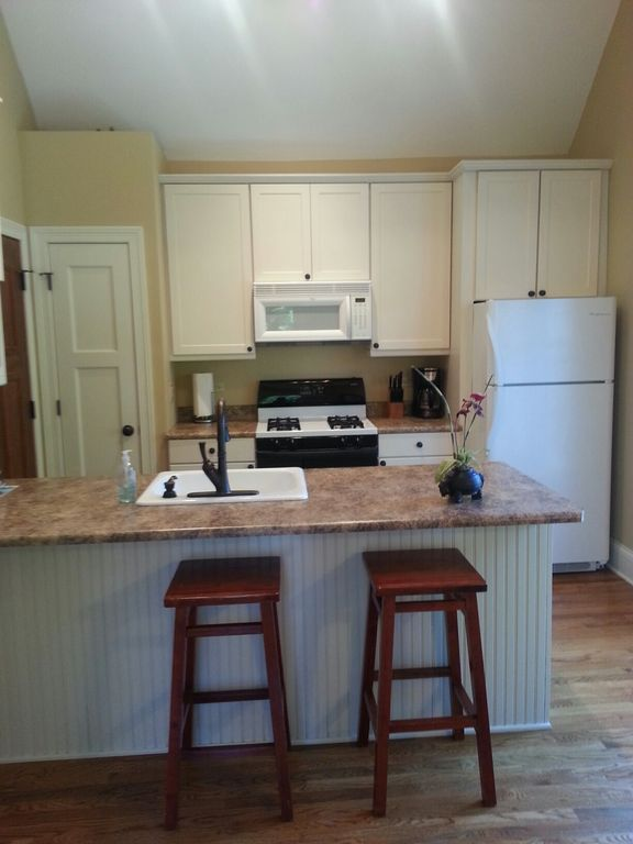 East Elevation Of Kitchen. Compact Yet Spacious Enough To Make A Meal For  Two.