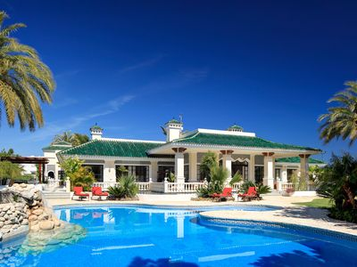 Photo for Luxury Villa, large private pool, 10 bedrooms, style Around the World