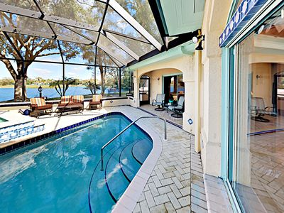 Photo for Lakeside Home on Huge Nature-filled Lot w/ Caged Private Pool