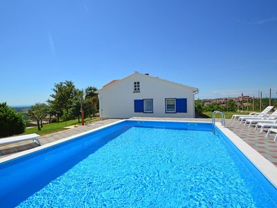 Photo for This 5-bedroom villa for up to 12 guests is located in Buje and has a private swimming pool, air-con