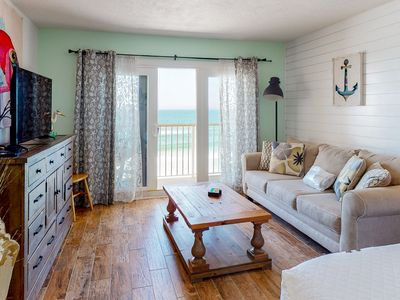 Photo for Modern, Gulf Front Condo w/ Beach Setup Included, Short Drive To Dining