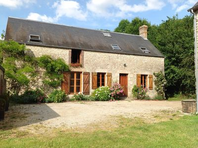 Photo for 18th Century Stone  Farmhouse, Private Heated Pool Own Grounds