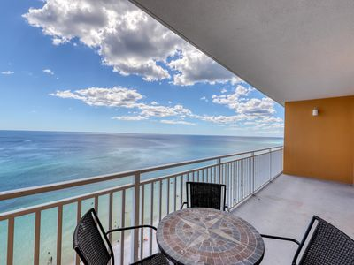 Photo for High-rise Gulf-front condo w/ beach views & shared hot tub/pool/lazy river!