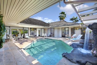 Poipu Waterfall House, Private secluded swimming pool, AC in bedrooms! -  Poipu
