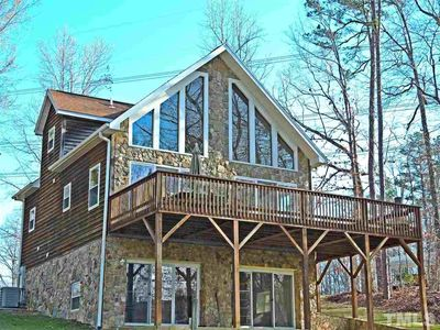 Enjoy the beautiful views from large deck overlooking the lake.