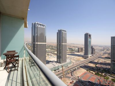Photo for Spacious Concorde 33 apartment in Jumeirah Lake Towers with WiFi, air conditioning, private parking…