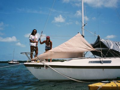 Photo for Tranquil Little Sailboat Crashpad- Cow Key Channel - Key West Florida