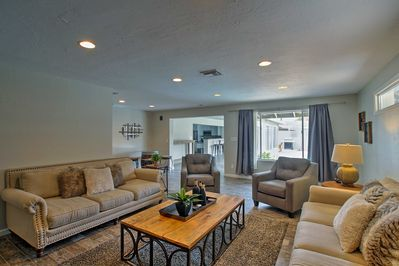This home comfortably sleeps 8 and is 5 miles away from Old Town Scottsdale.