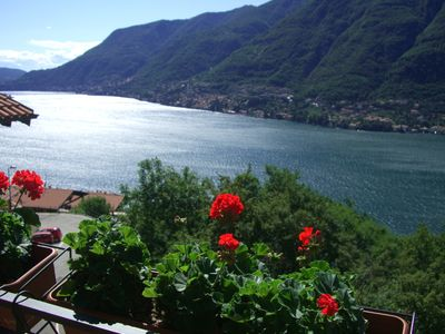 Amazing 180 degree Lake Como views from all windows and balconies of the villa.
