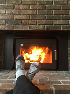 Relaxing By the Fireplace!