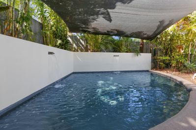 The whole family will enjoy cooling off in the private tropical pool