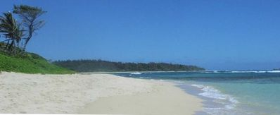 On one of the most beautiful beaches - swim in reef protected tropical water