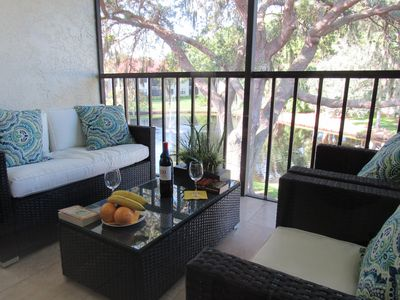 Photo for Stellar Lakefront Condo w/2 Pools! Near IMG Academy~Beaches~AMI~Shopping~Dining