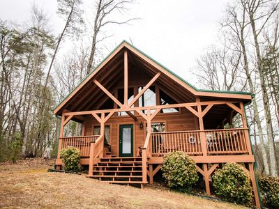 Photo for 10% BACK TO SCHOOL SPECIAL 7/6-8/30 Misty Mountain View Hot Tub- WiFi- Pool Table- Close to town