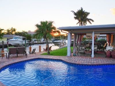 Photo for Luxury waterfront w/dock, on the barrier island & a short walk to the beach!