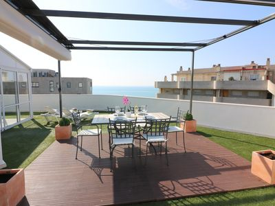 Photo for Spectacular Penthouse - 200 m2 terrace overlooking the sea in the center of Salou