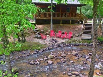 Photo for Creekside Family Getaway! Can't get any closer to the water than this!