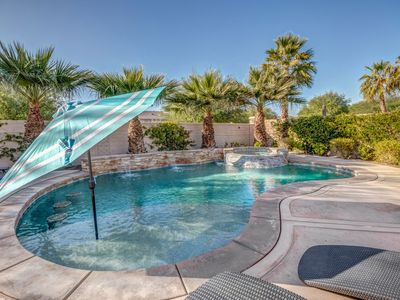 Photo for Luxury Desert Oasis w/ private saltwater pool minutes from casino & festivals