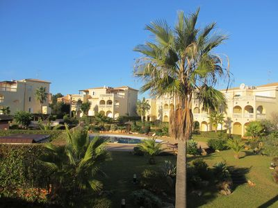 Photo for Near beach apartment complex in Majorcan style, with large pool