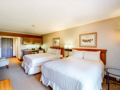 Photo for Chic hotel room near bike path w/elevator, shared hot tub, pool, gym, & firepit