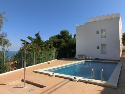 Photo for Simple, well-lit apartment in building with communal pool. It is located in Fané de Dalt (