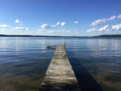 Photo for Newly Remodeled 4 bedroom Cottage with Stunning views of Beautiful Lake Metonga