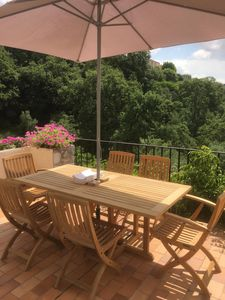 Fron Terrace teak dining table & chairs