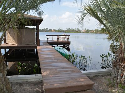 Photo for Spacious 3/2 Lakefront Retreat, Private Pool/Hot Tub/Dock