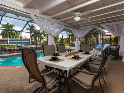 Photo for Tropical Luxury, Waterfront, Heated Pool, Hot Tub, 5 Kayaks, Glowing Reviews