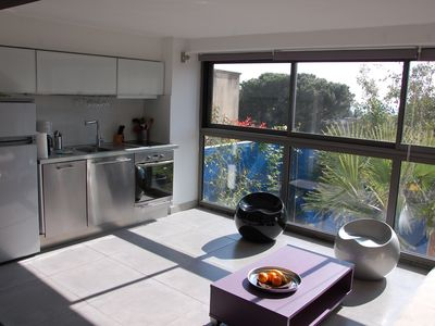 Photo for Cassis Large studio, terrace, village and beach on foot, private parking Provence