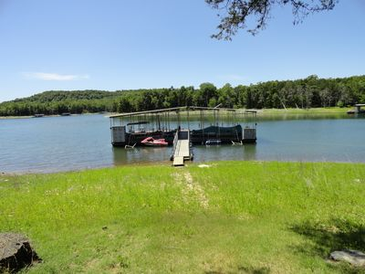 Photo for Two Lakefront Cabins with super easy lake access just Behind the Cabins!