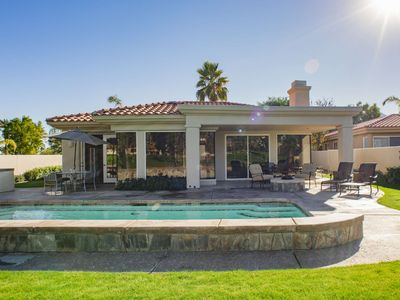 Photo for Mountain View Weisskopf Home - Private Saltwater Pool/ Spa, Casita & Outdoor Gas Fire Pit - PGA West