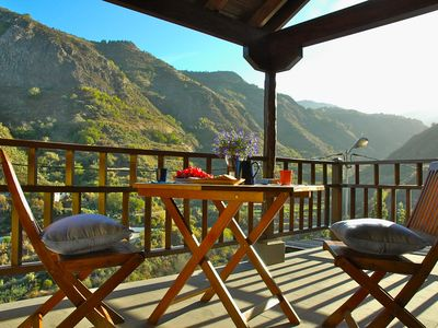 Photo for Casa Bellavista - Charming Canarian house with Outdoor Jacuzzi and Mountain Views, WiFi