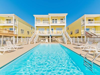 Photo for Beachfront Duplex, Private Pool, Quick online booking for activities!