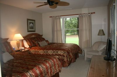 Master Bedroom with access to porch and golf course view