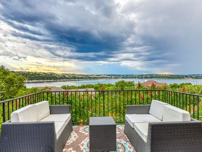 Photo for Family-friendly, lake view home w/ kids playground & a furnished deck