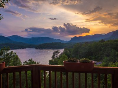 Photo for Spectacular views from spacious, modern lake front home