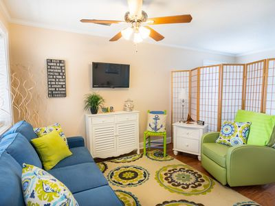 Photo for Cozy Holiday Hideaway Sleeps 4 only footsteps from the sandy beach