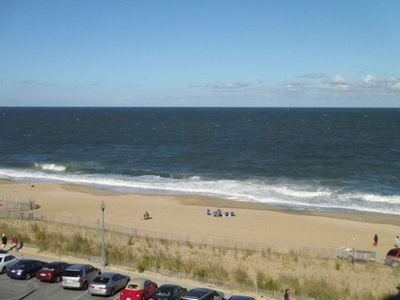 Photo for LINENS & DAILY ACTIVITIES INCLUDED!  OCEANFRONT/BOARDWALK BUILDING W/ROOFTOP POOL Spacious apartment with great views up the coast